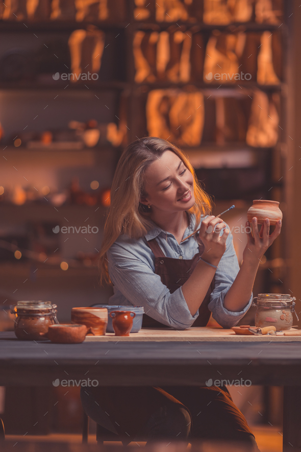 Attractive woman at work - Stock Photo - Images