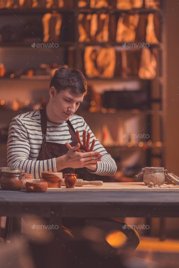 Young man at work - Stock Photo - Images
