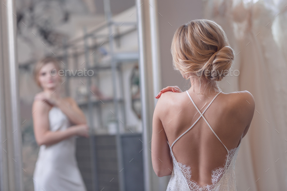 Attractive young bride - Stock Photo - Images