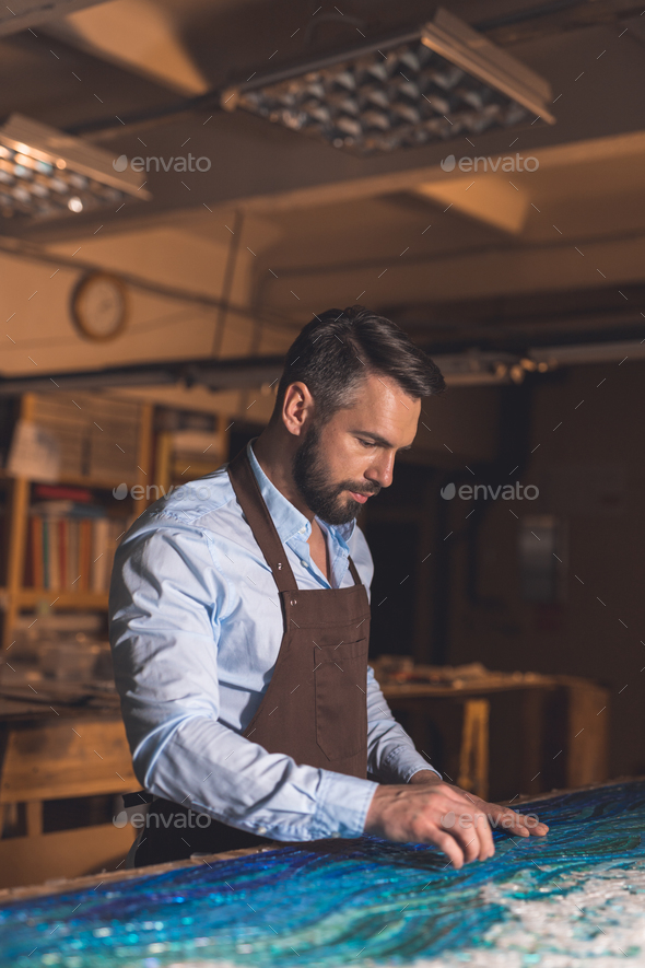 Young master in studio - Stock Photo - Images