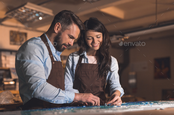 Young people in the workshop - Stock Photo - Images