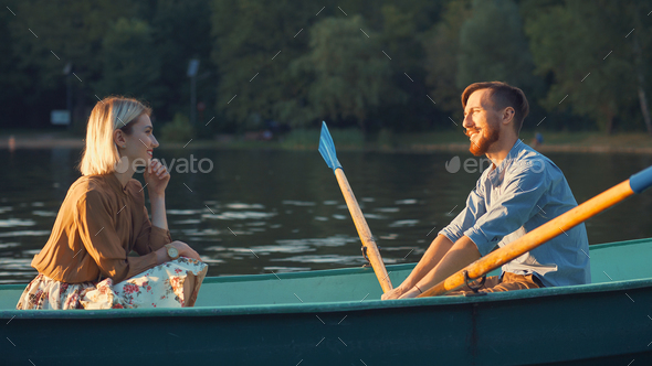 Attractive couple on a date - Stock Photo - Images