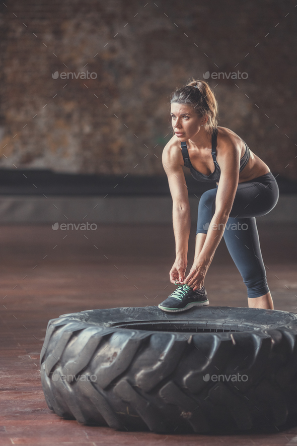 Sports woman at workout - Stock Photo - Images