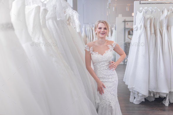 Smiling young bride - Stock Photo - Images