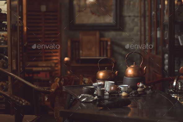 Interior tea room - Stock Photo - Images