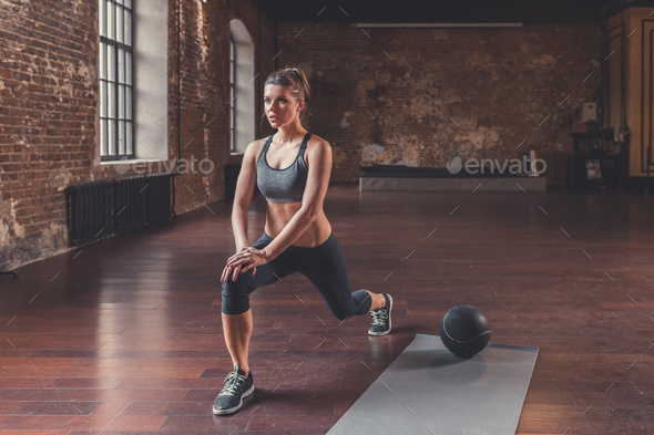 Young attractive woman in training - Stock Photo - Images
