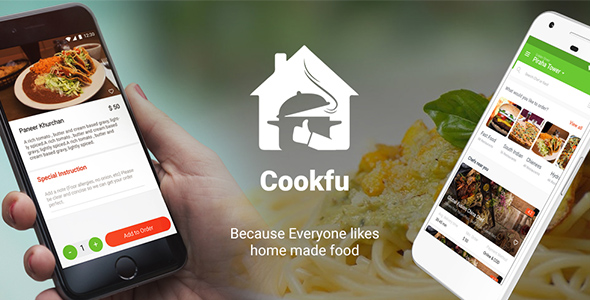Cookfu - Food Ordering & Delivering App| Multiple Restaurant | Template - CodeCanyon Item for Sale