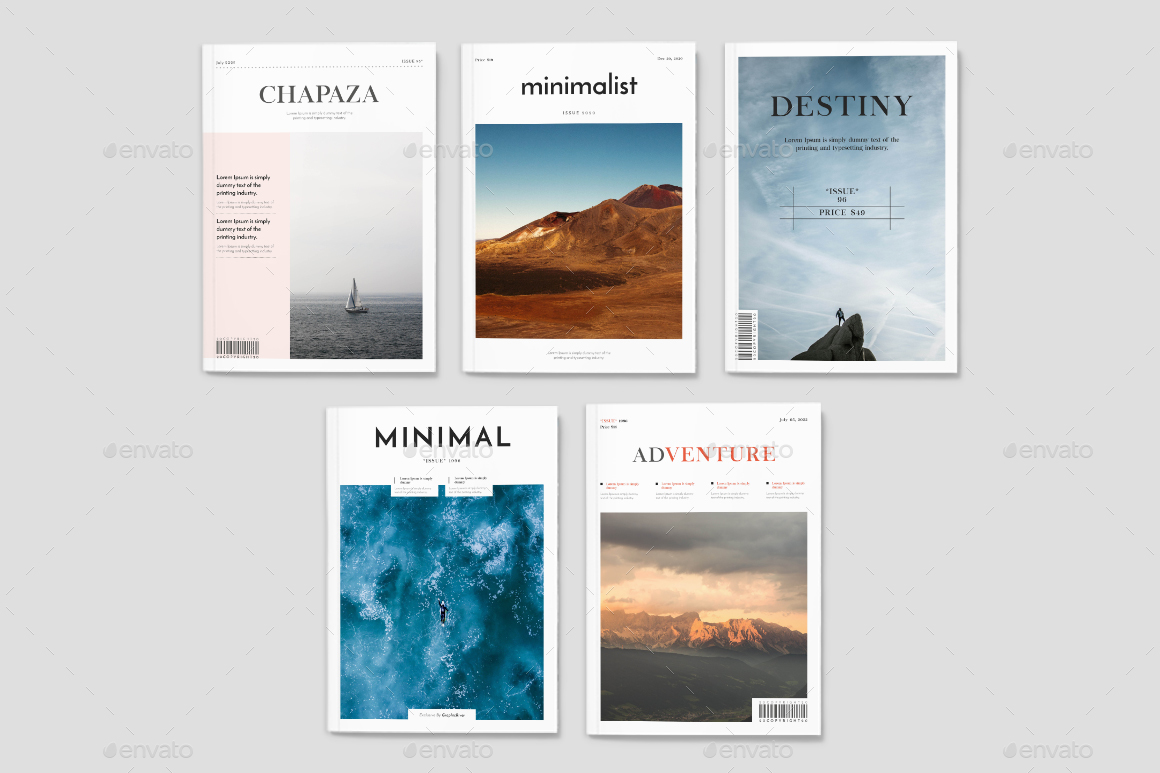 Minimal Magazine Layout By Graphhost Graphicriver