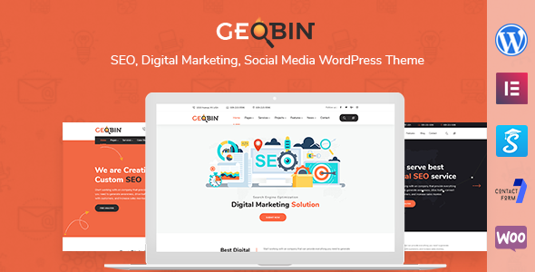 GeoBin | SEO and Digital Marketing WordPress Theme