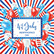 Independence Day Colored Background with Card and Balloons - GraphicRiver Item for Sale