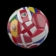 Soccer Ball with Flags of Countries of World on Transparent - VideoHive Item for Sale