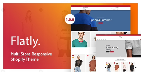 Flatly – Multi Store Responsive Shopify Theme