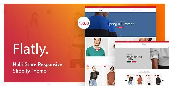 Flatly - Multi Store Responsive Shopify Theme