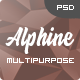 Alphine - Personal Portfolio & Resume PSD Template - ThemeForest Item for Sale