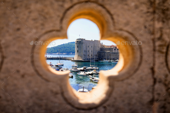 Dubrovnik harbor view - Stock Photo - Images