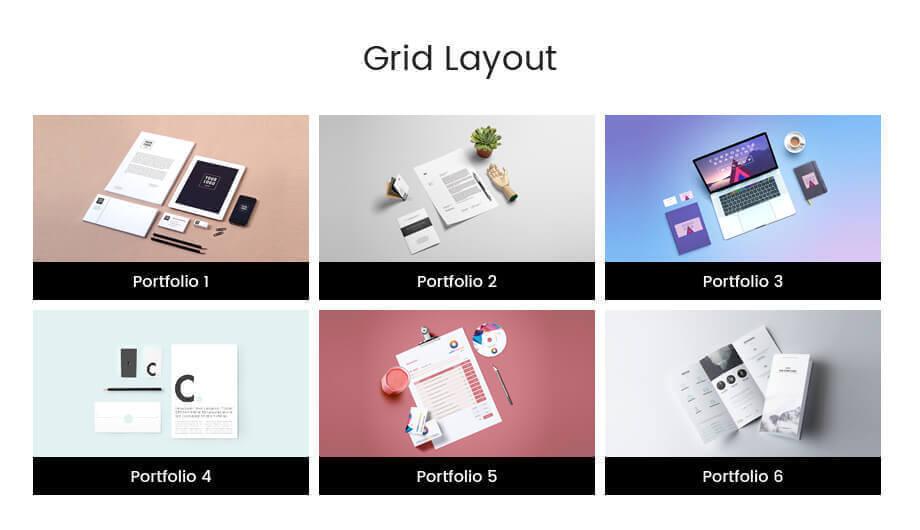 portfolio designer simple grid layoutpng