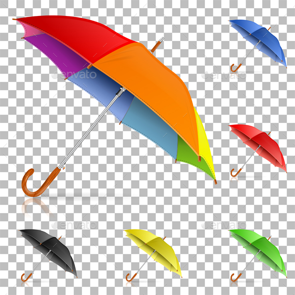 Set Realistic Umbrellas - Man-made Objects Objects