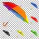 Set Realistic Umbrellas - GraphicRiver Item for Sale