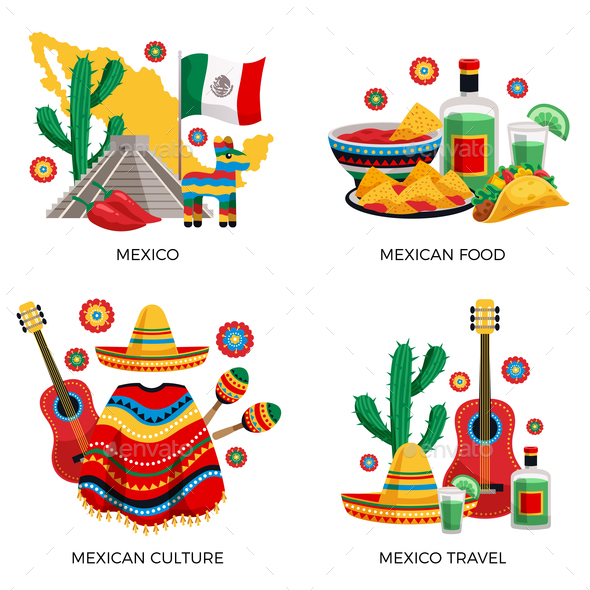 Mexico Culture Concept By Macrovector Graphicriver