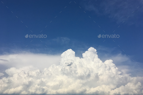 Sky clouds, beautiful clouds movement on the sky - Stock Photo - Images