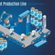 Isometric Robot Production Line Template