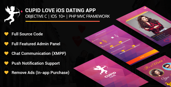 Cupid love iOS Native Application - CodeCanyon Item for Sale