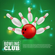 Bowling Club 3D Composition