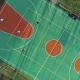 People Are Playing Basketball on Court. Aerial Vertical Top-Down View - VideoHive Item for Sale