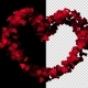 Heart of Rose Petals with Alpha Channel - VideoHive Item for Sale