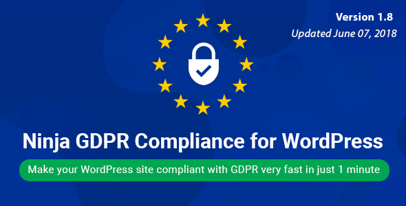 Ninja GDPR Compliance 2018 for WordPress - CodeCanyon Item for Sale
