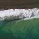 Splashing Sea Waves Near Coastline. Aerial Vertical Top-Down View - VideoHive Item for Sale