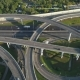 Multi-Level Road Junction and Cars Traffic. Aerial Vertical View - VideoHive Item for Sale