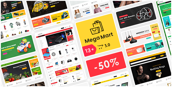 Mega Mart - Opencart 3 Multi-Purpose Responsive Theme - Shopping OpenCart