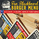 Fun Blackboard Burger Menu - GraphicRiver Item for Sale
