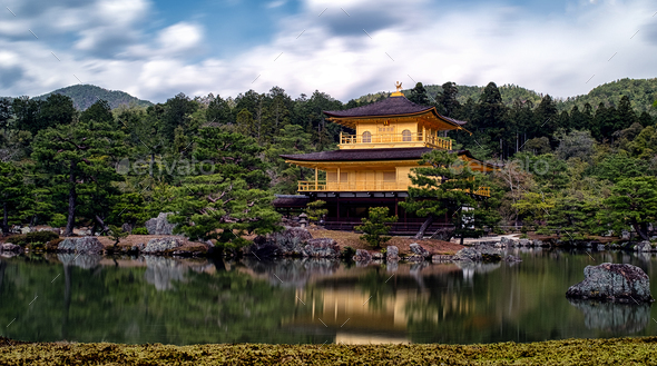 Golden Temple of Kyoto - Stock Photo - Images