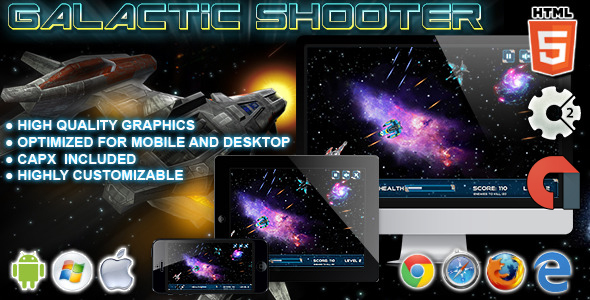Galactic Shooter - HTML5 Construct 2 Game - CodeCanyon Item for Sale