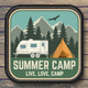 Summer Camp Patches - GraphicRiver Item for Sale