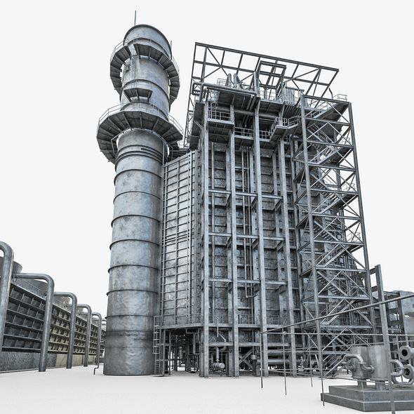 Gas Turbine Plant - Full Set - 3DOcean Item for Sale