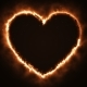 Burning Heart Shape with Sparks - VideoHive Item for Sale