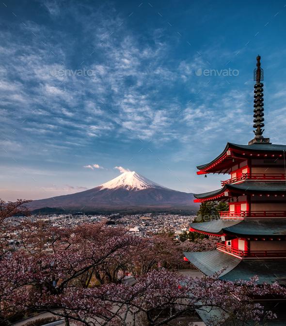 Chureito Pagoda - Stock Photo - Images