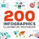 200 Infographics Bundle - GraphicRiver Item for Sale