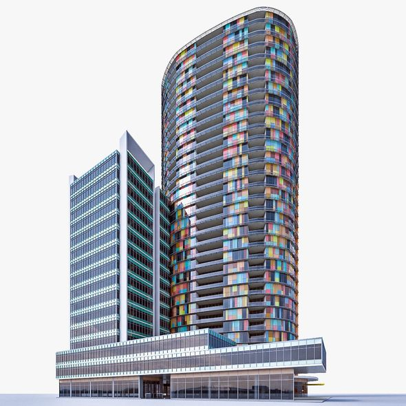 Residential Tower 02 - 3DOcean Item for Sale