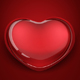 red glass heart - GraphicRiver Item for Sale