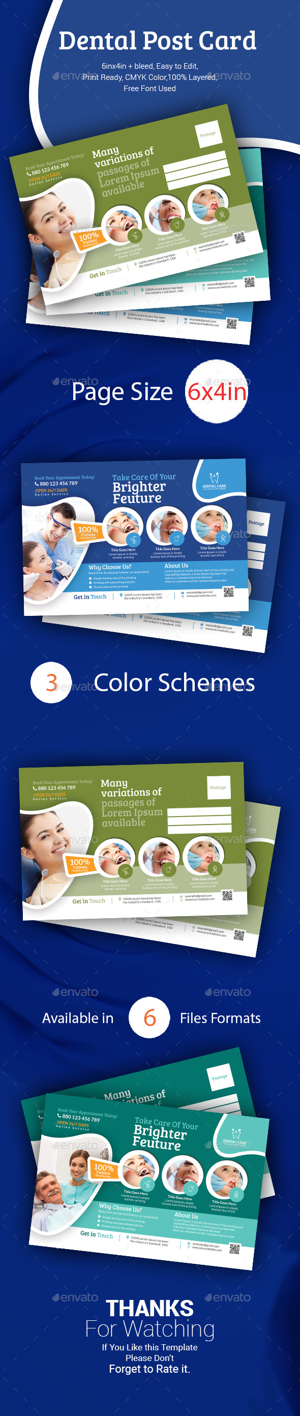 Dental Postcard Templates - Cards & Invites Print Templates