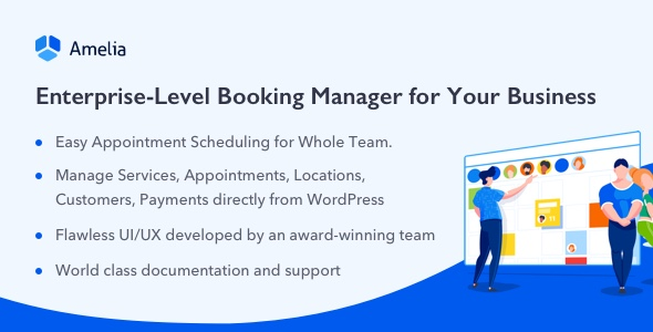 Amelia - Enterprise-Level Appointment Booking WordPress Plugin            Nulled