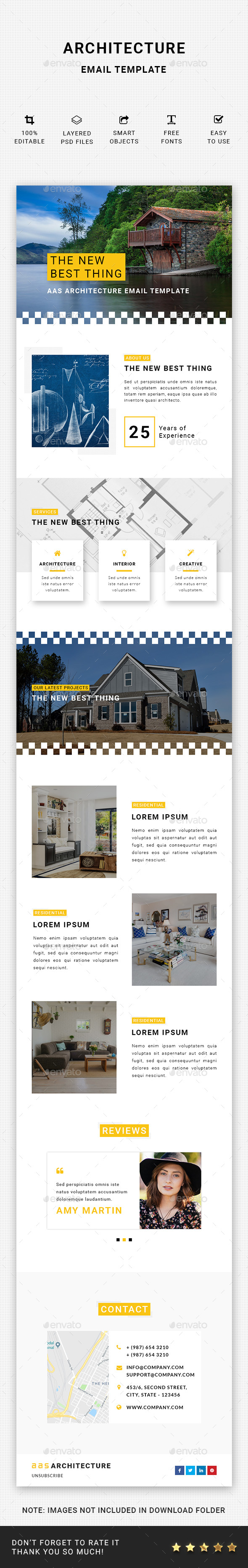Architecture Email Template - E-newsletters Web Elements
