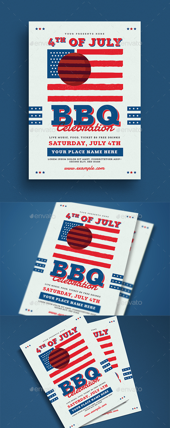 4th Of July BBQ Party Flyer - Events Flyers