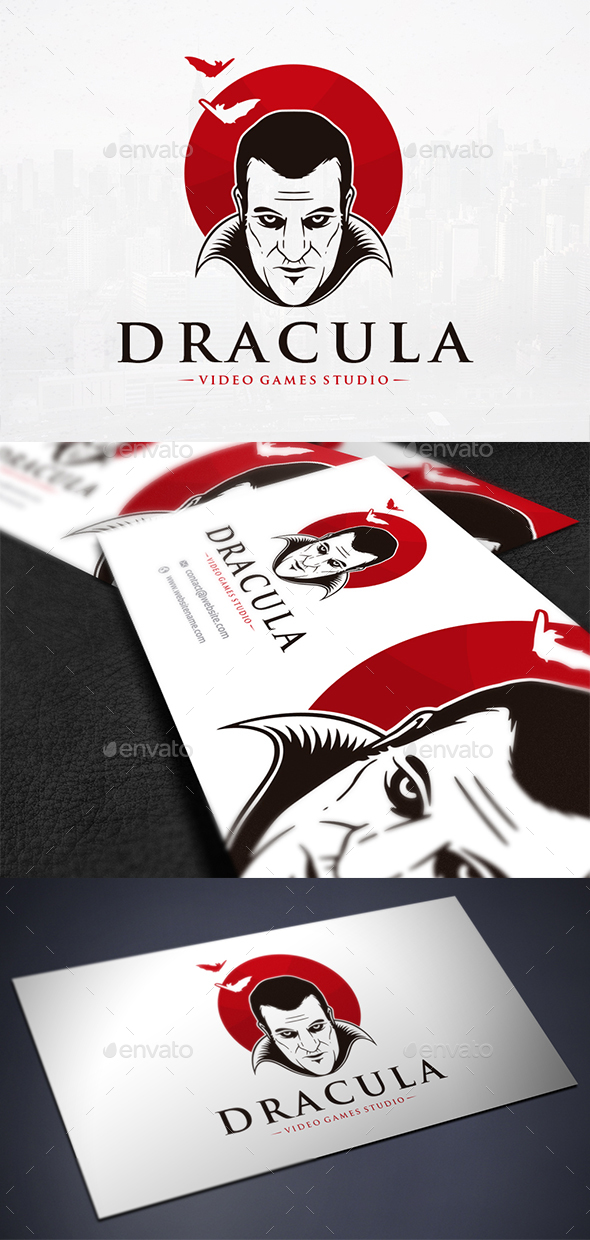 Dracula Face Logo Template - Humans Logo Templates