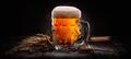 Beer on black background - PhotoDune Item for Sale
