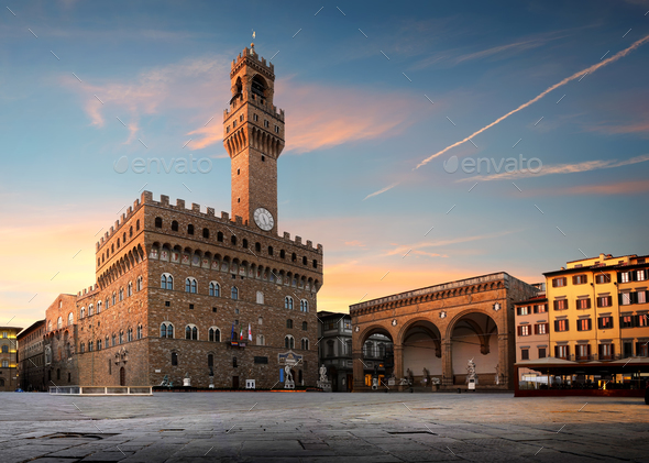 Florence at sunset - Stock Photo - Images